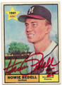 HOWIE BEDELL AUTOGRAPHED VINTAGE ROOKIE BASEBALL CARD #31920C