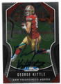 GEORGE KITTLE SAN FRANCISCO 49ers AUTOGRAPHED FOOTBALL CARD #32020A