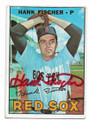 HANK FISCHER BOSTON RED SOX AUTOGRAPHED VINTAGE BASEBALL CARD #32020D