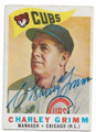 CHARLEY GRIMM CHICAGO CUBS AUTOGRAPHED VINTAGE BASEBALL CARD #32120A