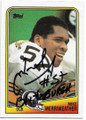 MIKE MERRIWEATHER PITTSBURGH STEELERS AUTOGRAPHED VINTAGE FOOTBALL CARD #32220D