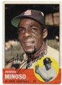 MINNIE MINOSO ST LOUIS CARDINALS AUTOGRAPHED VINTAGE BASEBALL CARD #32420B