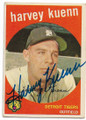 HARVEY KUENN DETROIT TIGERS AUTOGRAPHED VINTAGE BASEBALL CARD #32620D