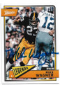 MIKE WAGNER PITTSBURGH STEELERS AUTOGRAPHED FOOTBALL CARD #33120D