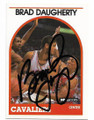 BRAD DAUGHERTY CLEVELAND CAVALIERS ALL-STAR AUTOGRAPHED VINTAGE BASKETBALL CARD #40120A