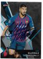LUIS SUAREZ FUTBOL CLUB BARCELONA AUTOGRAPHED SOCCER CARD #40120C