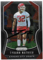 TYRANN MATHIEU KANSAS CITY CHIEFS AUTOGRAPHED FOOTBALL CARD #40720D