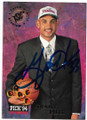 GRANT HILL DETROIT PISTONS AUTOGRAPHED ROOKIE BASKETBALL CARD #40820A