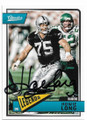 HOWIE LONG LOS ANGELES RAIDERS AUTOGRAPHED FOOTBALL CARD #40820D