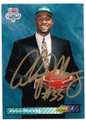 ALONZO MOURNING CHARLOTTE HORNETS AUTOGRAPHED ROOKIE BASKETBALL CARD #40920D