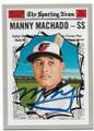 MANNY MACHADO BALTIMORE ORIOLES AUTOGRAPHED BASEBALL CARD #41020C