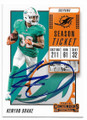 KENYAN DRAKE MIAMI DOLPHINS AUTOGRAPHED FIOOTBALL CARD #41320D