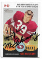 HUGH McELHENNY SAN FRANCISCO 49ers AUTOGRAPHED FOOTBALL CARD #41520A
