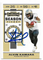ALVIN KAMARA NEW ORLEANS SAINTS AUTOGRAPHED FOOTBALL CARD #41520F