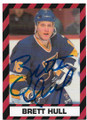 BRETT HULL ST LOUIS BLUES AUTOGRAPHED HOCKEY CARD #41720C