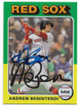 ANDREW BENINTENDI BOSTON RED SOX AUTOGRAPHED BASEBALL CARD #41820C