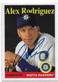 ALEX RODRIGUEZ SEATTLE MARINERS AUTOGRAPHED BASEBALL CARD #41820F