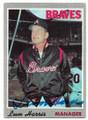 LUM HARRIS ATLANTA BRAVES AUTOGRAPHED VINTAGE BASEBALL CARD #42720A