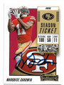 MARQUISE GOODWIN SAN FRANCISCO 49ers AUTOGRAPHED FOOTBALL CARD #42820C