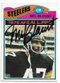MEL BLOUNT PITTSBURGH STEELERS AUTOGRAPHED VINTAGE FOOTBALL CARD #50220B
