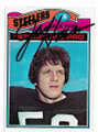 JACK HAM PITTSBURGH STEELERS AUTOGRAPHED VINTAGE FOOTBALL CARD #50220E