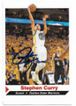 STEPHEN CURRY GOLDEN STATE WARRIORS AUTOGRAPHED BASKETBALL CARD #50220F