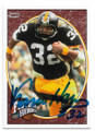 FRANCO HARRIS PITTSBURGH STEELERS AUTOGRAPHED FOOTBALL CARD #50420A