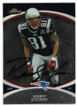 RANDY MOSS NEW ENGLAND PATRIOTS AUTOGRAPHED FOOTBALL CARD #50420C