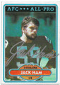 JACK HAM PITTSBURGH STEELERS AUTOGRAPHED VINTAGE FOOTBALL CARD #50420E