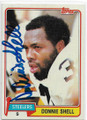 DONNIE SHELL PITTSBURGH STEELERS AUTOGRAPHED VINTAGE FOOTBALL CARD #50520A