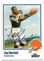 PAUL WARFIELD CLEVELAND BROWNS AUTOGRAPHED FOOTBALL CARD #50520B
