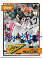 OZZIE NEWSOME CLEVELAND BROWNS AUTOGRAPHED FOOTBALL CARD #50520C