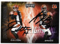 ANDY DALTON & AJ GREEN CINCINNATI BENGALS DOUBLE AUTOGRAPHED FOOTBALL CARD #50520F