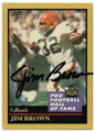 JIM BROWN CLEVELAND BROWNS AUTOGRAPHED VINTAGE FOOTBALL CARD #50620A