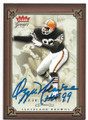 OZZIE NEWSOME CLEVELAND BROWNS AUTOGRAPHED FOOTBALL CARD #50720E