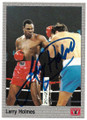 LARRY HOLMES AUTOGRAPHED BOXING CARD #50920A