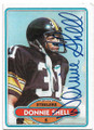 DONNIE SHELL PITTSBURGH STEELERS AUTOGRAPHED VINTAGE FOOTBALL CARD #51020B