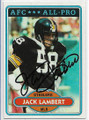 JACK LAMBERT PITTSBURGH STEELERS AUTOGRAPHED VINTAGE FOOTBALL CARD #51320F