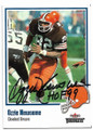 OZZIE NEWSOME CLEVELAND BROWNS AUTOGRAPHED FOOTBALL CARD #51620D