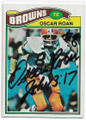 OSCAR ROAN CLEVELAND BROWNS AUTOGRAPHED VINTAGE FOOTBALL CARD #51620H