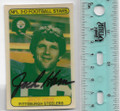 JACK HAM PITTSBURGH STEELERS AUTOGRAPHED VINTAGE 3-D MINI FOOTBALL CARD #51820D
