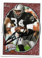 BO JACKSON LOS ANGELES RAIDERS AUTOGRAPHED FOOTBALL CARD #51920J