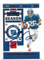 SAQUON BARKLEY NEW YORK GIANTS AUTOGRAPHED FOOTBALL CARD #52020H