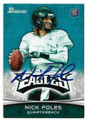 NICK FOLES PHILADELPHIA EAGLES AUTOGRAPHED ROOKIE FOOTBALL CARD #52120F