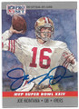 JOE MONTANA SAN FRANCISCO 49ers AUTOGRAPHED FOOTBALL CARD #52220C