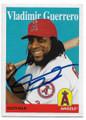 VLADIMIR GUERRERO JR LOS ANGELES ANGELS OF ANAHEIM AUTOGRAPHED BASEBALL CARD #52220D