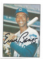 ERNIE BANKS CHICAGO CUBS AUTOGRAPHED VINTAGE BASEBALL CARD #52320C