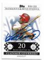 VLADIMIR GUERRERO ANAHEIM ANGELS AUTOGRAPHED & NUMBERED BASEBALL CARD #52420F