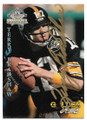 TERRY BRADSHAW PITTSBURGH STEELERS AUTOGRAPHED FOOTBALL CARD #52520D