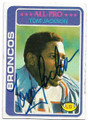TOM JACKSON DENVER BRONCOS AUTOGRAPHED VINTAGE FOOTBALL CARD #52520F